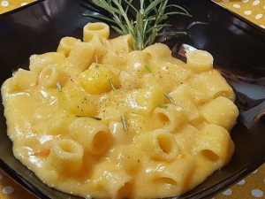 Pasta with potatoes, a dish from the South of Italy